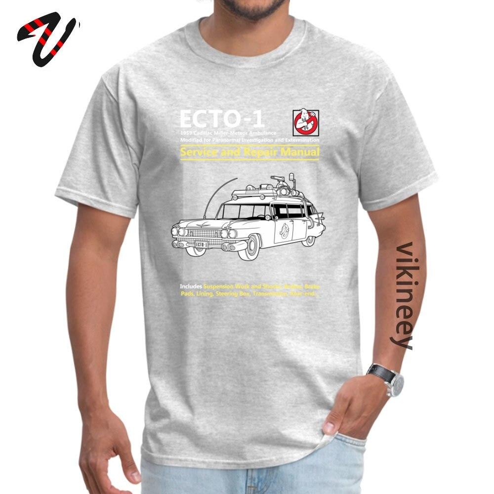 ECTO_Service_ Tshirts Normal Short Sleeve Brand Round Neck 100% Cotton Tops & Tees Crazy Tops Tees for Men Summer/Autumn ECTO-1_Service_4165 grey