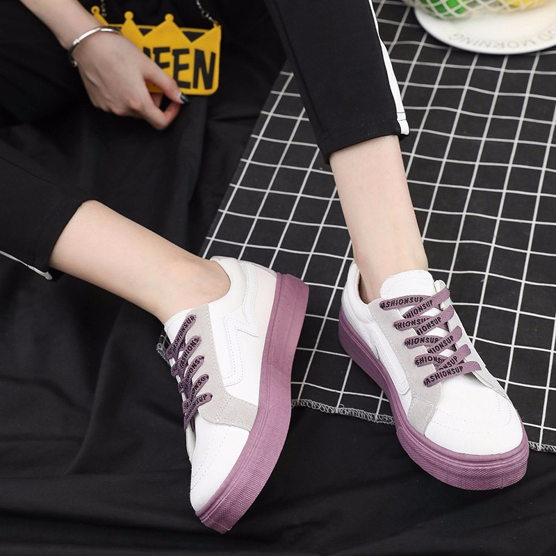 2019 Summer New Style Canvas Shoes Flat Shoes White Versatile Lace-up WOMEN'S Casual Shoes Students Athletic Shoes Women's