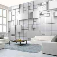 Dropship Custom Any Size Mural Wallpaper 3D Geometric Brick Wall Fresco Abstract Creative TV Sofa Art Wall Papers Home Decor