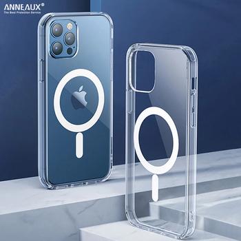 Oryginalny Magsafe magnetyczny bezprzewodowy futerał do ładowania dla iPhone 11 12 Pro MAX mini XR X XS MAX 7 8 Plus SE 2020 pokrywa akcesoria etuiobudowy kuferek kejsy obudowa na telefon pokrowiec tanie i dobre opinie MAGSAFE MAGNETIC APPLE CN (pochodzenie) Częściowo przysłonięte etui Magnetic Wireless Charging Mobile Phone Case przezroczyste