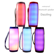 Colorful LED Lights Bluetooth Speaker HIFI Stereo  with Mic Hands Free Support TF FM USB Bluetooth Wireless Portables sound box nfc bluetooth speaker with mic hi fi sound hands free call