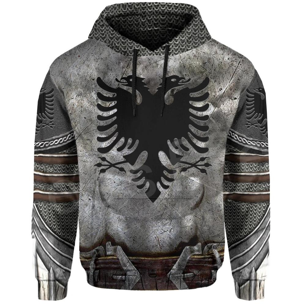 Tessffel Newest Albania Country Flag NewFashion Pullover Long sleeves Funny Tracksuit Unisex 3DPrint Zipper/Hoodies/Jacket A-9
