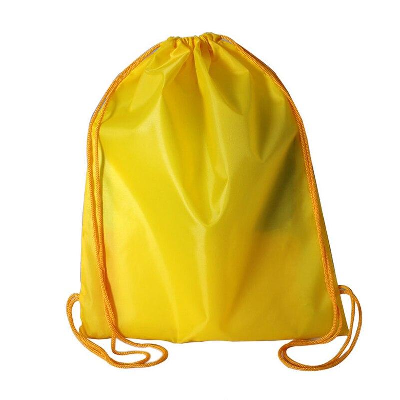 Drawstring Bags Lightweight Large Capacity Nylon Backpack Pull String Bags For Travel Shopping J9