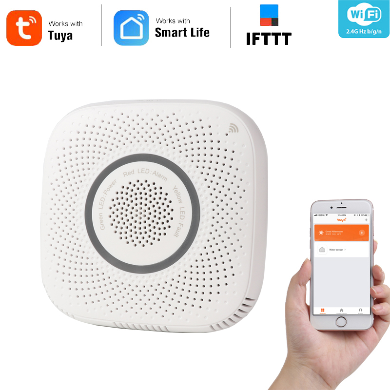 Haozee Smart Combusitible Gas Leakage Alarm Sensor Wifi Smart Home Sensor Work With Google Assistant,Alexa,IFTTT