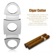 Pocket Size Classic Comfortable Grip Stainless Steel Double Blade Cigar