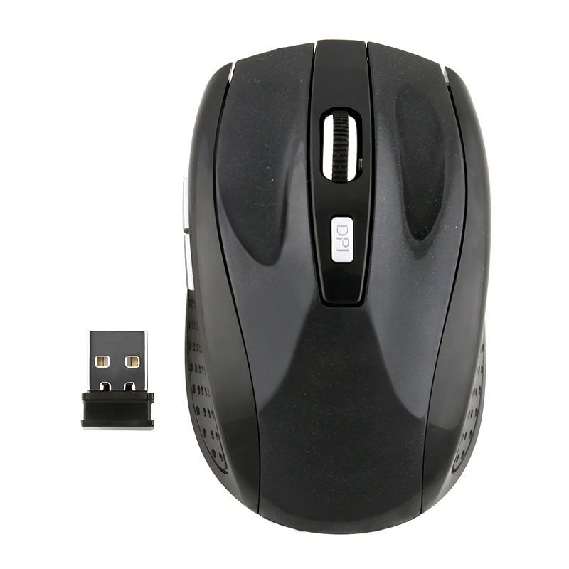 1PC 2.4GHz Wireless Optical Computer Mouse Mice 800-1600dpi Automatic Frequency With USB Receiver For Computer PC Laptop