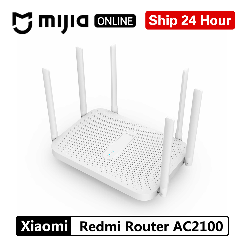 Xiaomi Redmi Router AC2100 Gigabit 2.4G 5.0GHz strengthen Dual Band 2033Mbps Wireless Wifi Repeater 6 High Gain Antennas Wider|Wireless Routers|   - AliExpress