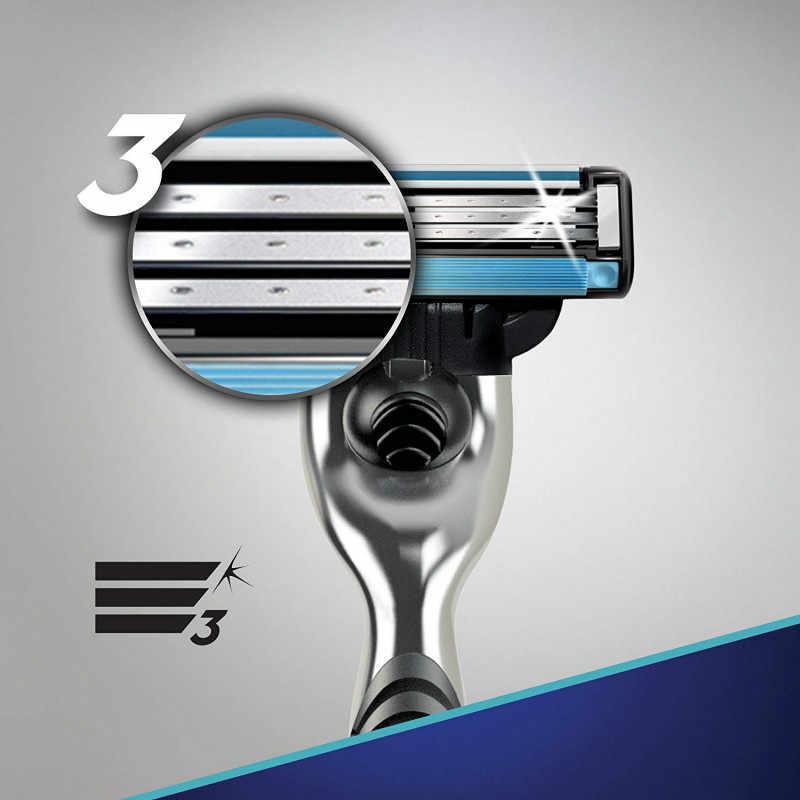 Remplaçable Lames De Rasoir pour Homme Gillette Mach 3 Lames Rasage 1 pièces Porte-8 pièces Cassettes Rasage Mak3 Rasage Cartouche Mach3