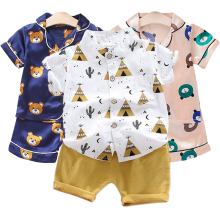 LZH Baby Boys Clothing Sets 2021 Summer Toddler Boys Clothes Shirt+Shorts Outfit Suit Kids Casual Children Clothing 1 2 3 4 Year