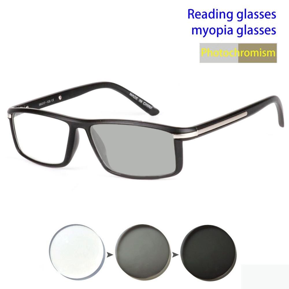 Photochromic Gray Lens Reading Glasses Men Presbyopia Eyeglasses Sun glasses Sports Glasses Frame