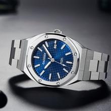2020 Nieuwe 42Mm Cadisen Eiken Mannen Mechanische Horloges Luxe Zakelijke Automatische Horloge Mannen 100M Waterdicht Klok NH35A reloj Hombre