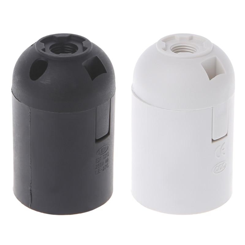 E27 Edison Lamp Bulb Holder Socket White/Black Pendant Ceiling Light Vintage 40JE