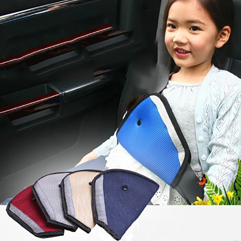 New Baby Car Seat Belt Triangle Soft Padding Adjuster For Kids Baby Safety Belt Cover Pad Holder Neck Protector Auto Accessories
