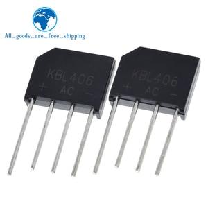 5PCS KBL406 KBL-406 4A 600V Single Phases Diode Bridge Rectifier ZIP-4