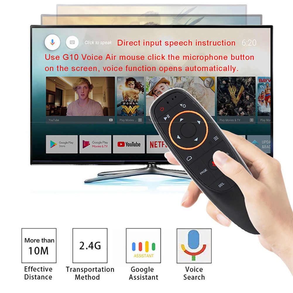 G10 głos air mouse z USB 2.4GHz bezprzewodowa 6 osi żyroskopu mikrofon pilot zdalnego sterowania na podczerwień dla tv box z androidem