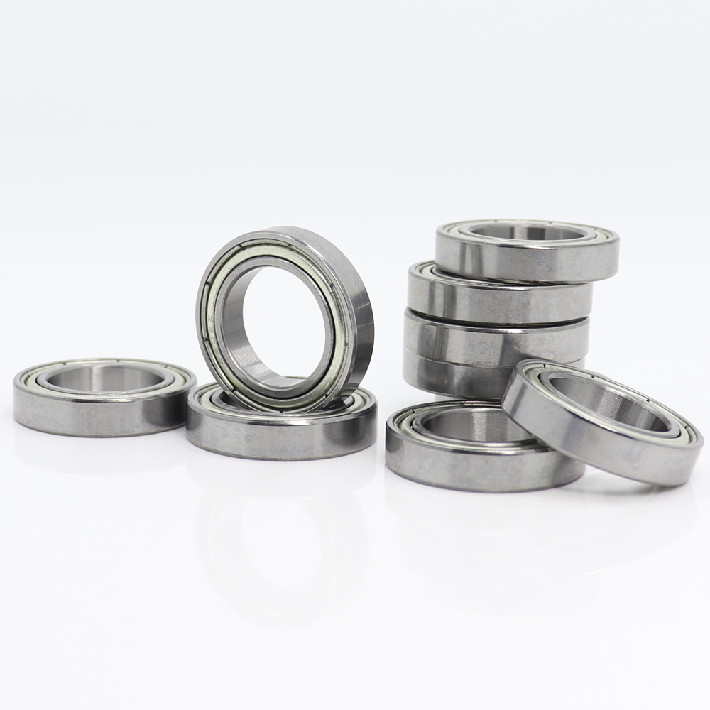 <font><b>6802ZZ</b></font> Bearing 15*24*5 mm ( 10 PCS ) ABEC-1 Metric Slim Thin Section 61802Z 6802 Z ZZ Ball Bearings 6802Z image
