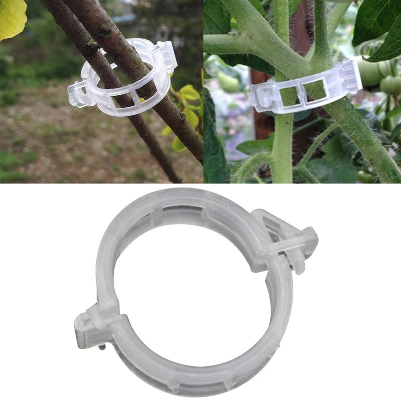 50 Pcs Reusable 25mm Plastic Plant Support Clips Clamps For Plants Hanging Vine Garden Greenhouse Vegetables Tomatoes Clips