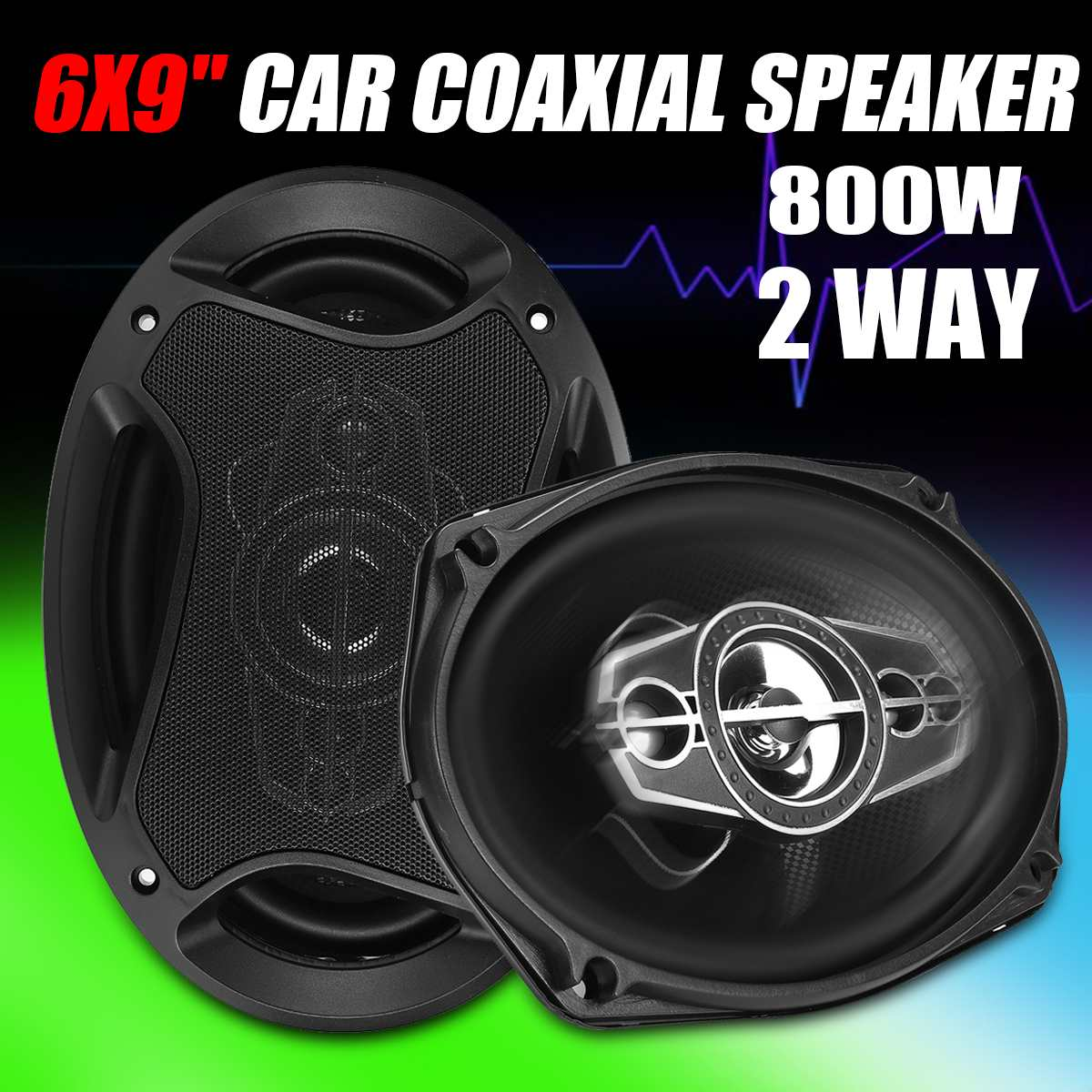 1Pair 6x9 Inch 800W Car Audio Speakers Car Coaxial Speaker Hifi Vehicle Auto Music Stereo Full Range Frequency Loudspeaker