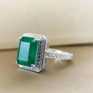 Image 3 - PANSYSEN Vintage Emerald diamond Gemstone Women Rings Top Brand New Wedding Anniversary 925 Sterling Silver Ring Wholesale Gifts