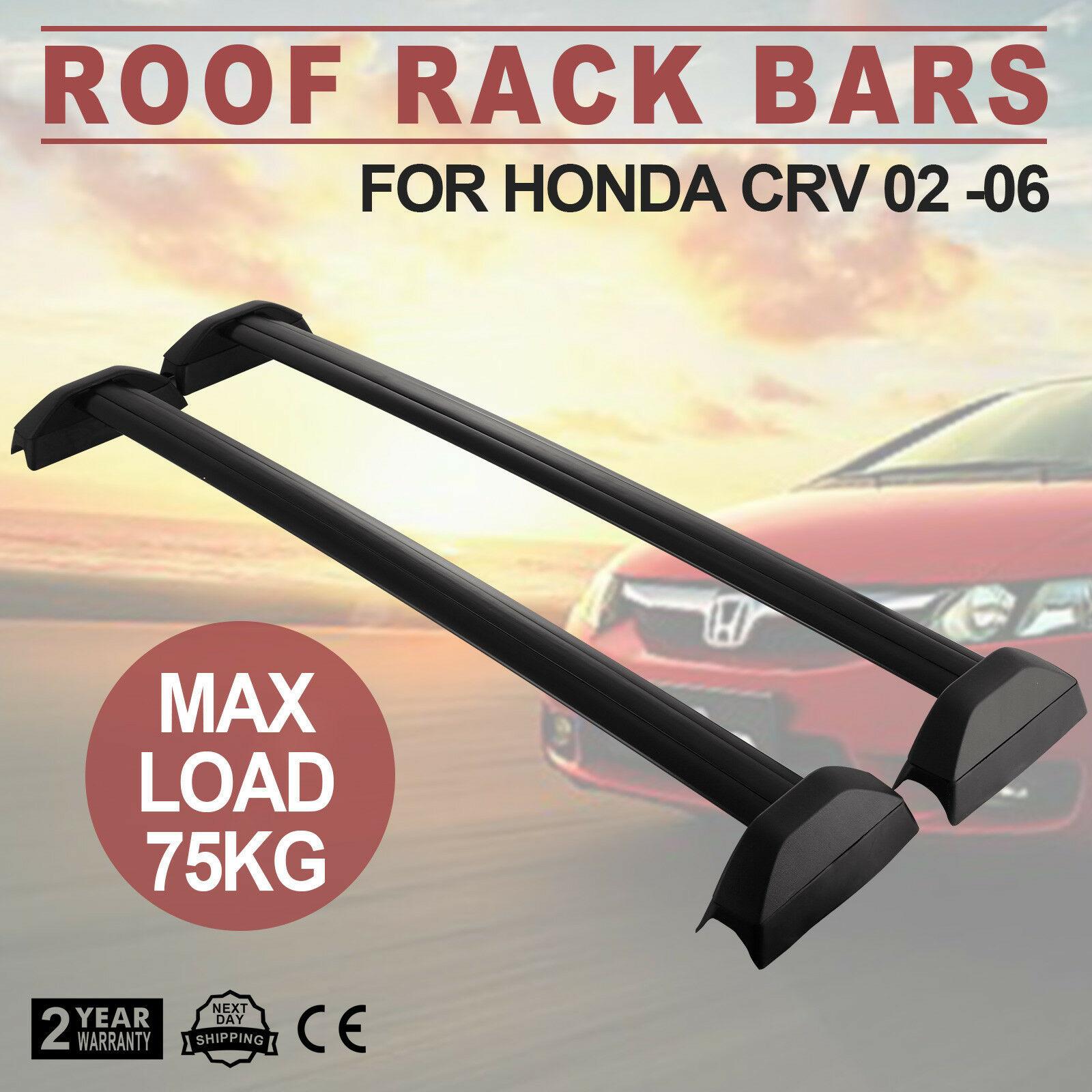 Hard Cross Bar Roof Rail Side Rack For Honda CRV CR-V 02-06 Luggage Carrier HQ