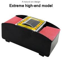 Jogo de tabuleiro poker jogando cartas elétrico automático poker shuffler casino robô cartão shuffler máquina de jogo poker ferramenta presente de Natal