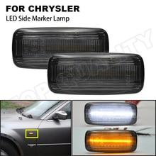 2Pcs Smoke Lens LED Side Marker Lamp Turn Signal Light For Chrysler 200 300 Sebring 2007 2017 Town Country 2008 2016 Error Free