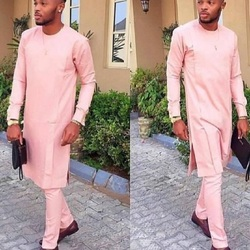 Модный однотонный светильник в африканском стиле, розовые мужские комплекты со штанами, мужские костюмы в стиле сенатора, костюмы жениха ра...