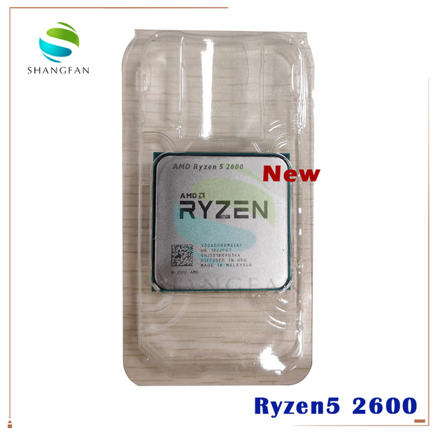 Novo amd ryzen 5 2600 r5 2600 3.4 ghz seis núcleo doze núcleo 65w processador central yd2600bbm6iaf soquete am4