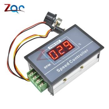 30A DC 6V 12V 24V 48V PWM Motor Speed Controller LED Digital Display 0-100% Adjustable Voltage Regulator w/ Potentiometer Switch