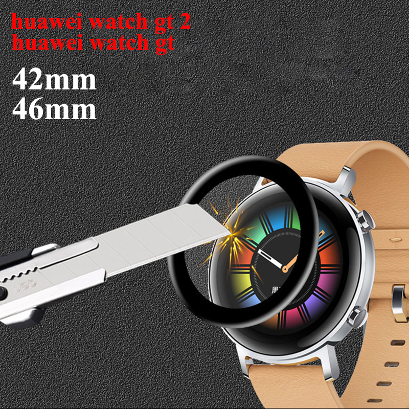 Tempered Glass For Huawei Watch Gt/2 Strap Screen Protector Film 46mm 42mm 9H Explosion-Proof Watch Accessories Huawei Watch Gt2