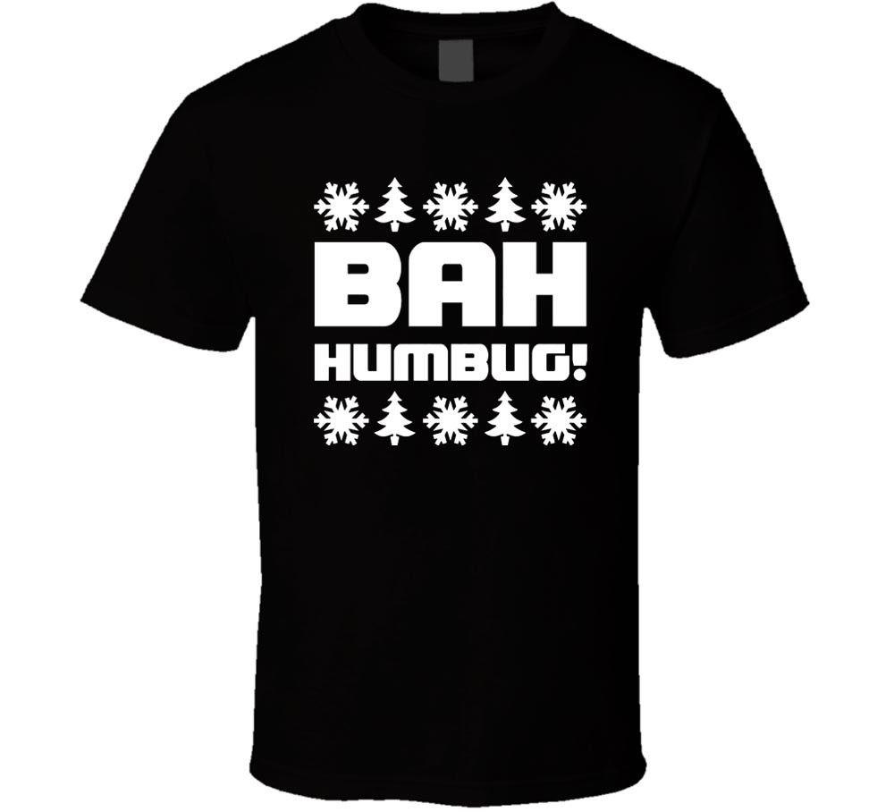 Baa Humbug White Sheep Bah Humbug Anti Christmas Mens T-Shirt