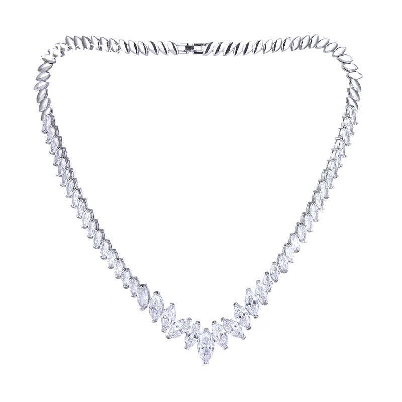 Emmaya senhoras nobler vintage jóias colar de noivado casamento nupcial simplicidade charme pingente de cristal presente para amigos