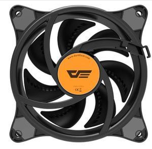 Image 4 - Aigo ventilateur pour boîtier darkFlash LED, 120mm, ventilateur couleur arc en ciel, silencieux, 4 broches, 12cm, ventilateur de bureau, PC, ordinateur, radiateur