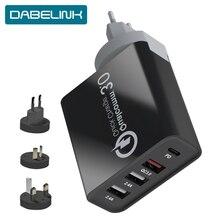 شاحن USB C PD سريع الشحن 3.0 60 وات نوع C الشحن QC3.0 QC الجدار شاحن الهاتف السريع آيفون 11 برو شاومي ماك بوك برو