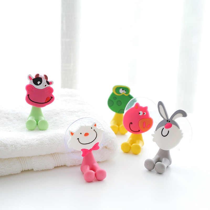 1 個子供歯ブラシホルダー浴室フック浴室キッチン壁強力な吸引カップフックハンガー真空吸盤