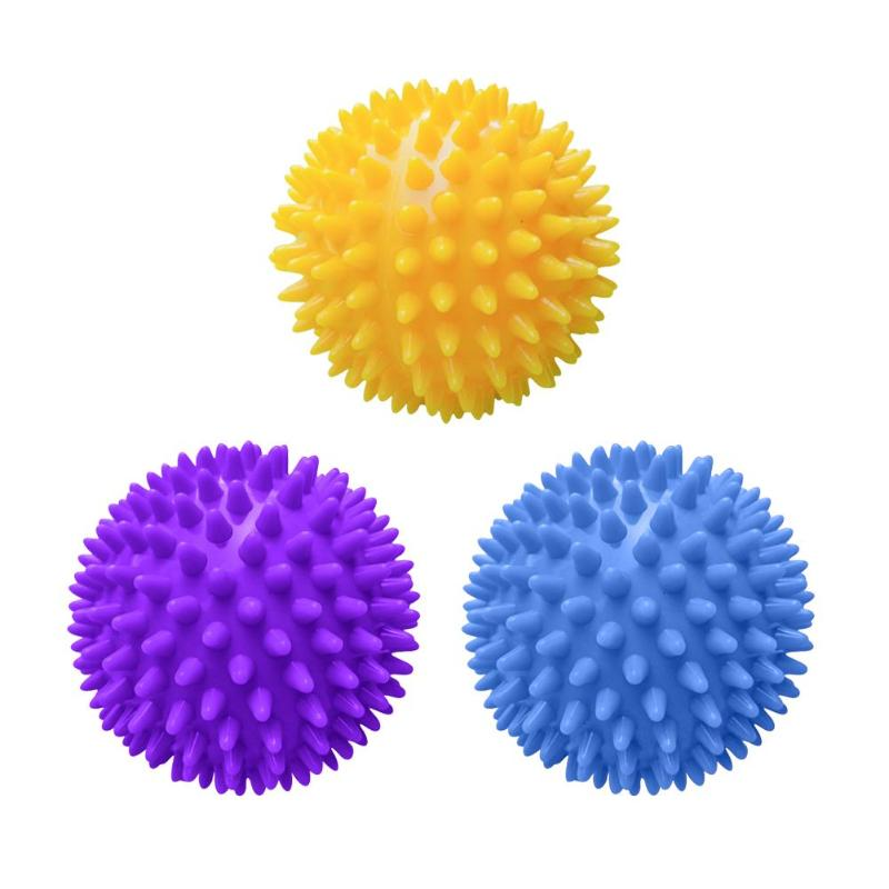 9cm PVC Spiky Massage Ball Sport Fitness Hand Foot Pain Stress Relief Training Grip Muscle Relax Hedgehog Physiotherapy Ball