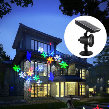 Solar powered LED Laser Projector Moving Snowflake Disco Light Waterproof Christmas Stage Lights Outdoor Garden Landscape Lamp