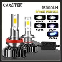 Faro CARLITEK H4 H7 Led per Auto H8 H9 H11 lampade per Auto Mini HB4 9006 HB3 9005 lampadine su Auto 4300K 8000K 10000K universale