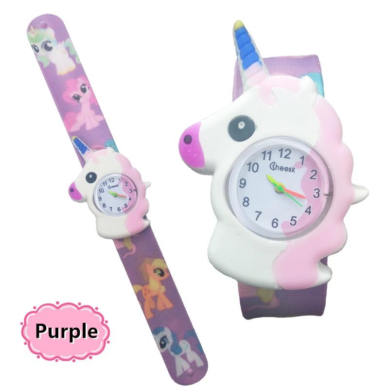 New Unicorn Design Kids Cartoon Fashion Watches Quartz Childrens Jelly Boy Girl Students Wristwatch For Children 2-12 Years Old