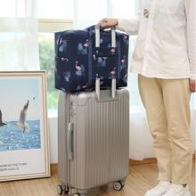 New Folding Clothes Sorting Bag Luggage Storage Organizer Folding Bag Totes Shopping Shoulder Bag Travel Duffle Women Makeup Bag