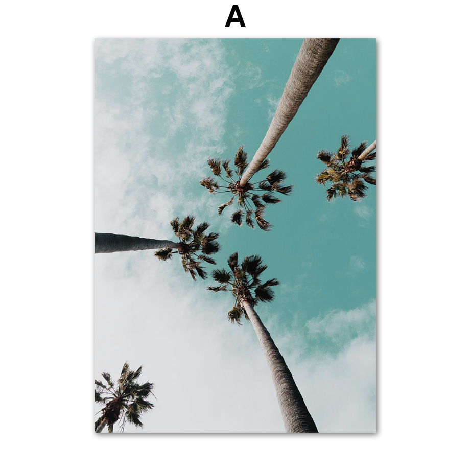 Coconut-Palm-Tree-Pink-Beach-Sea-Umbrella-Wall-Art-Canvas-Painting-Nordic-Posters-And-Prints-Wall (1)