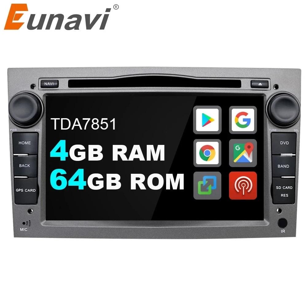 Eunavi 2 Din Android 10 автомобильный DVD радио GPS для Opel Astra Vectra Antara Zafira Corsa 2Din Авто аудио GPS мультимедийный плеер DSP 4G