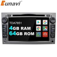 Eunavi 2 Din Android 10 Auto Dvd Radio Gps Voor Opel Astra Vectra Antara Zafira Corsa 2Din Auto Audio Gps multimedia Speler Dsp 4G