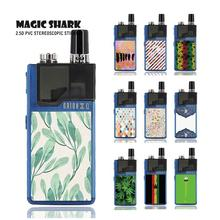 Magic Shark 2019 Simple PVC Rick and Morty China Painting Leaf Flower Vape Case Sticker Back Film Skin for Lost Vape Orion Pod new smok slm stick thick vapor pod vape kit 250mah electronic cigarette kit small vape pen kit vs smok nord drag nano minifit