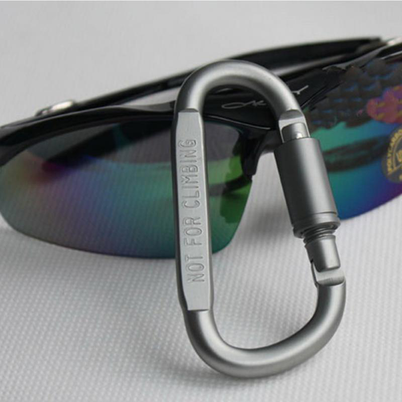 Hanging-Buckle Superhard-Alloy-Carabiner Aluminum-Alloy Lock with New-7 D-Type title=