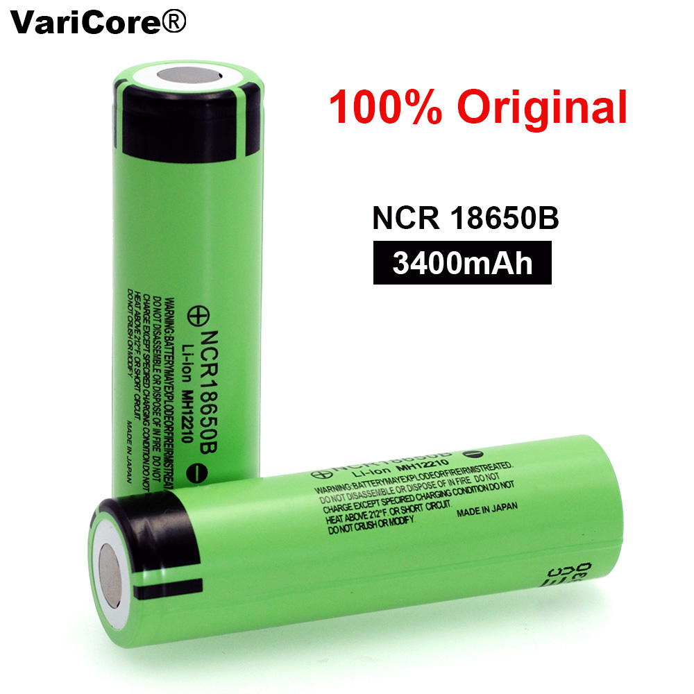100% New Original NCR18650B 3.7 v 3400mah 18650 Lithium Rechargeable Battery For Flashlight batteries(China)