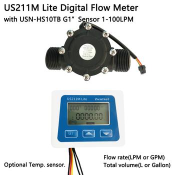 US211M Lite cyfrowy miernik przepływu G1 #8222 USN-HS10TB 1-100L min 5V czytnik przepływu kompatybilny efekt halla czujnik przepływu wody Saier Dijiang tanie i dobre opinie Ultisolar CN (pochodzenie) Hydraulika US211M Lite HS10TB Mężczyzna BSPP Gwint