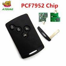 Cartão chave do carro fob 433 mhz pcf7952 chip lâmina 4 botão chave remota 7952