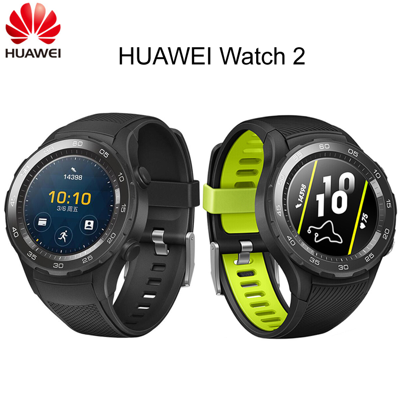 Global Rom Huawei Watch 2 Sport Smart watch Heart Rate Tracker For Android iOS IP68 waterproof NFC GPS Clock