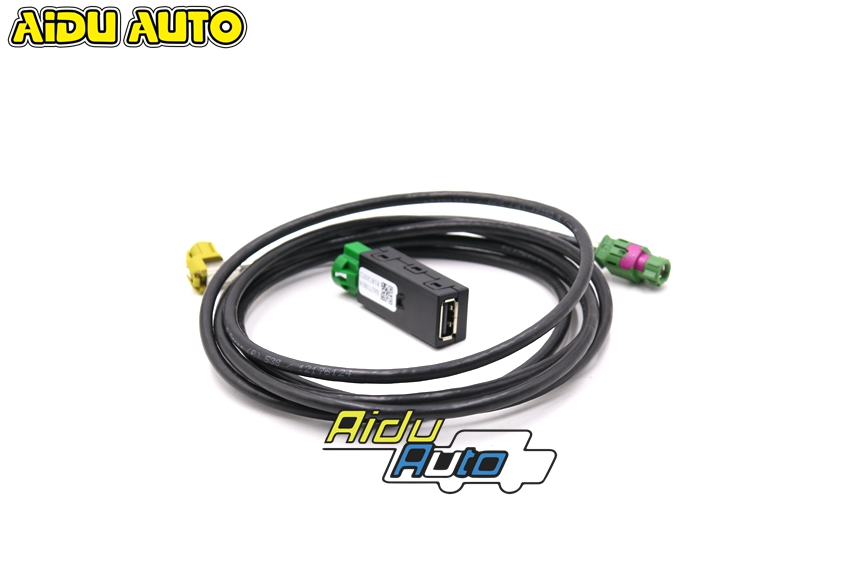 AIDUATO For <font><b>VW</b></font> CarPlay MDI MIB 2 DIS PRO UNIT RADIO <font><b>USB</b></font> AMI Install Plug Socket Switch Button Harness image